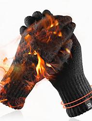 Недорогие -вязаные перчатки зимние мужские и женские с сенсорным экраном простые чистые цвета теплые шерстяные перчатки плюс бархат