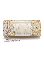 cheap -Women's Sequin / Chain Polyester Evening Bag Solid Color Black / Blushing Pink / Gold