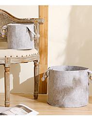 Недорогие -корзина для хранения портативная прочная коллекция одежды ручка цилиндр высокое качество шерсти чувствовал ткань настраиваемый
