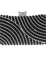 cheap -Women's Beading / Pearls PU Evening Bag Black / Purple / Gold