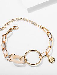 cheap -Women's Vintage Bracelet Earrings / Bracelet Pendant Bracelet Classic Lucky Classic Trendy Fashion Cute Elegant Acrylic Bracelet Jewelry Gold For Gift Daily School Holiday Festival