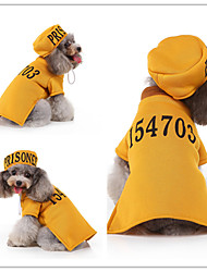 cheap -Dog Cat Vest Christmas Dog Clothes Yellow Costume Polyester Canvas Mixed Material S M L XL