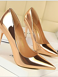 cheap -Women's Heels Stiletto Heel Pointed Toe PU Fall & Winter Black / Gold / Silver