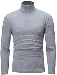cheap -Men's Daily / Weekend Solid Colored Long Sleeve Slim Regular Pullover Sweater Jumper, Turtleneck Spring White / Black / Camel US32 / UK32 / EU40 / US34 / UK34 / EU42 / US36 / UK36 / EU44