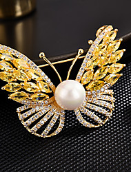 cheap -Women's AAA Cubic Zirconia Brooches Korean Brooch Jewelry Gold Silver For Party Festival