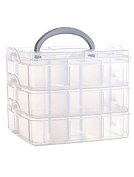cheap -Storage Organization Cosmetic Makeup Organizer Plastic Square Flip-open Cover