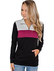 cheap -Women's Casual Sweatshirt - Color Block Blushing Pink S