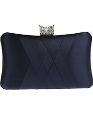 cheap -Women's Satin Evening Bag Solid Color Black / Wine / Purple