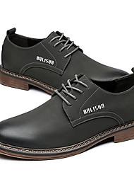 cheap -Men's Comfort Shoes Microfiber Fall & Winter Boots Black / Gray