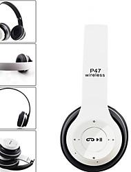 abordables -LITBest P47 Casque sur l'oreille Sans Fil Voyage et divertissement Bluetooth 4.2 Stereo Avec contrôle du volume