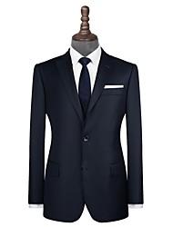 Недорогие -темно-синий саржевый шерстяной костюм на заказ