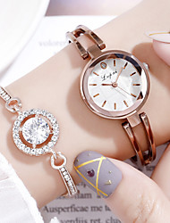 cheap -Women's Quartz Watches Quartz Elegant Chronograph Stainless Steel Brown / Rose Gold Analog - Rose Gold Gold Pink White One Year Battery Life / Imitation Diamond