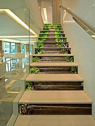 Недорогие -Лестница стикер наклейки водопад stone3d сделай сам дорога пейзаж настенные росписи домашнего декора украшения съемный