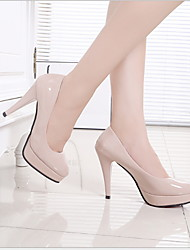 cheap -Women's Heels Stiletto Heel Round Toe Daily PU Almond White Black / 3-4