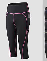 cheap -YUERLIAN Women's High Waist Yoga Pants Pocket Purple Green Blue Fuchsia Running Fitness Gym Workout 3/4 Tights Leggings Sport Activewear Butt Lift Tummy Control Power Flex High Elasticity Slim
