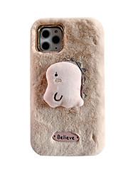 ieftine -Maska Pentru Apple iPhone 11 / iPhone 11 Pro / iPhone 11 Pro Max Ultra subțire / Model Capac Spate Mată / Desene Animate / Pluș TPU / Material Bumbac