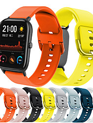 cheap -Sport Silicone Watch Band For Amazfit GTS / GTR 42mm / Bip Youth Replaceable Bracelet Wrist Strap Wristband