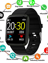 cheap -Couple's Smartwatch Digital Stylish Silicone Black / Blue / Red 30 m Water Resistant / Waterproof Smart Sleep Mode Digital Casual - Black Red Blue One Year Battery Life