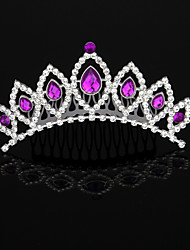 cheap -Cubic Zirconia / Rhinestone / Alloy Tiaras / Headbands / Hair Combs with Rhinestone / Crystal / Crystals / Rhinestones 1 Piece Wedding / Birthday Headpiece