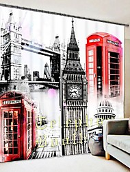 cheap -British Style Decorative Painting Style Digital Printing 3D Curtain Shading Curtain High Precision Black Silk Fabric High Quality Curtain