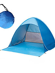 cheap -2 person Tent Screen Tent Outdoor UV Resistant Rain Waterproof Breathability Single Layered Automatic Camping Tent 1000-1500 mm for Camping / Hiking / Caving Traveling Picnic Terylene 165*150*110 cm