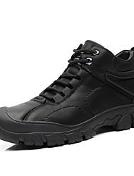 cheap -Men's Comfort Shoes Leather Winter Athletic Shoes Hiking Shoes Black