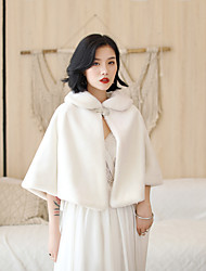 cheap -Half Sleeve Wool / Faux Fur Wedding / Party / Evening Women's Wrap With Solid Coats / Jackets