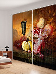 cheap -Oil Painting Style Decoration Digital Printing 3D Curtain Shading Ccurtain High Precision Black Silk Fabric High Quality Curtain