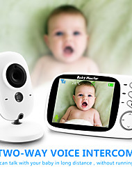 cheap -Baby Monitor Temperature Sensor Night Vision Babysitter Wireless Video Baby Care with 3.2Inches LCD 2 Way Audio Talk Surveillance Security Camera VB603