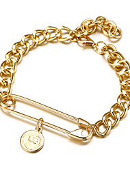 cheap -Women's Cubic Zirconia Bracelet Pendant Bracelet Classic Precious Simple Casual / Sporty Fashion Alloy Bracelet Jewelry Gold For Daily Street Work