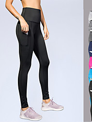 cheap -Women's Patchwork Yoga Pants 3D Print Elastane Zumba Running Fitness Tights Activewear Power Flex 4 Way Stretch High Elasticity Slim