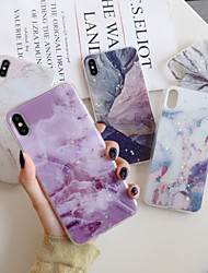 cheap -Case For Apple iPhone 11 / iPhone 11 Pro / iPhone 11 Pro Max Pattern / Glitter Shine Back Cover Glitter Shine / Marble TPU / PC