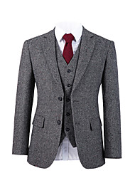 cheap -Gray starlight tweed wool custom suit