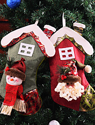 cheap -Snowman Masquerade Family Look Kid's Costume Party Christmas Christmas Fabric Socks / Gift Bag