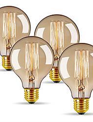 cheap -4pcs 40 W E26 / E27 G80 Warm White 2300 k Retro / Dimmable / Decorative Incandescent Vintage Edison Light Bulb 220-240 V
