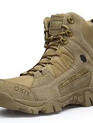 cheap -Men's Suede Shoes Suede Winter Boots Mid-Calf Boots Brown / Beige / Combat Boots
