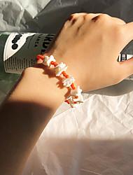 cheap -Women's Bead Bracelet Bracelet Beads Precious Casual / Sporty Cute Shell Bracelet Jewelry Orange / Blue For Party Gift Daily School Holiday