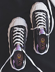 cheap -Women's Sneakers Flat Heel Round Toe Canvas Summer Black / White / Purple