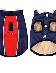 cheap -Dog Cat Vest Stylish Winter Dog Clothes Snowproof Black Red Pink Costume Polyester Canvas Mixed Material XS S M L XL XXL