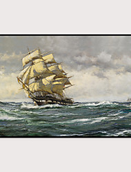 cheap -Framed Art Print Framed Set - Landscape Aquatic & Nautical PS Oil Painting Wall Art