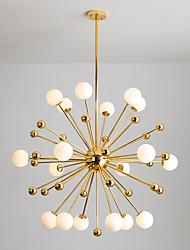 cheap -18 Bulbs 100 cm Chandelier Metal Glass Cluster Sputnik Electroplated Modern Nordic Style 110-120V 220-240V