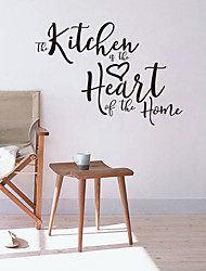 cheap -Kitchen heart generation carved English rumors home background decoration removable stickers JZQ305