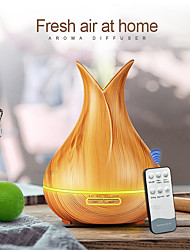 cheap -400 ml Ultrasonic Air Humidifier Aroma Essential Oil Diffuser with Wood Grain 7 Color Changing LED Lights for Office Home