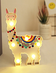 cheap -BRELONG Alpaca LED Decor Light INS Style Night Light Staycation Creative LED Painted Lantern New Year Holiday Decoration Room Posing Style Light 1 pc