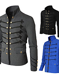 cheap -Plague Doctor Retro Vintage Steampunk Masquerade Jacket Men's Costume Black / Blue / Gray Vintage Cosplay Party Halloween Long Sleeve / Coat