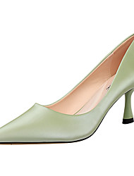 cheap -Women's Heels Pumps Pointed Toe Sexy Party & Evening Solid Colored PU Almond / Black / Yellow