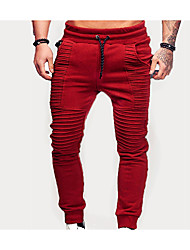 cheap -Men's Jogger Pants Joggers Running Pants Track Pants Sports Pants Beam Foot Drawstring Cotton Sports Winter Sweatpants Bottoms Running Jogging Gym Workout Lightweight Quick Dry Plus Size Solid Colored