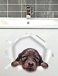 Недорогие -новый 3d щенок обои детская комната ванная комната туалет наклейки mu85002