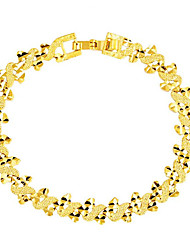 cheap -Women's Chain Bracelet Geometrical Vertical / Gold bar Fashion Gold Plated Bracelet Jewelry Gold For Daily Festival