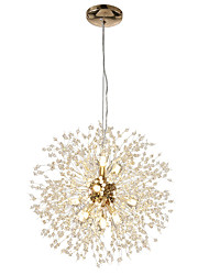 cheap -12-Lights Modern Electroplated Globe Chandeliers Firework Led Nordic Style Pendant Lights Living Room Dining Room G9 Bulb Base